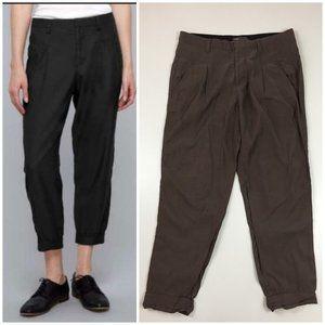 VINCE Tapered Leg Pleats Slouchy Dress Pants